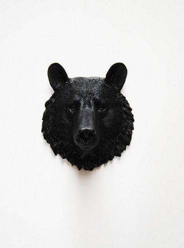 resin bear head - 1