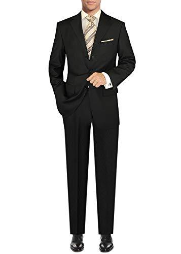 DTI GV Executive Men's Italian Wool 3 Button Suit 2 Piece Set Jacket Pant Stripe (52 Regular US / 62R EU/W 46