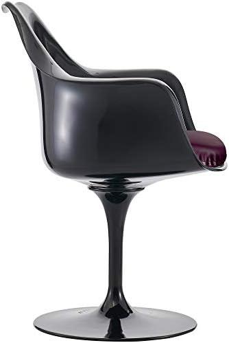Eero Saarinen Fauteuil Noir et Violet de Style Tulipe