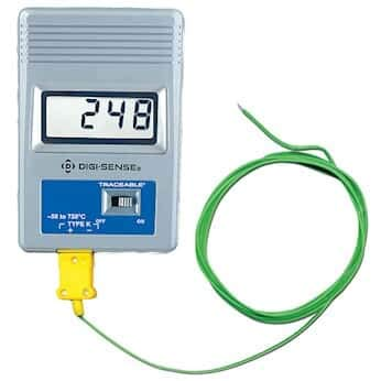 Digi-Sense AO-86460-03 Calibrated Remote-Monitoring Thermocouple Thermometer, Fahrenheit