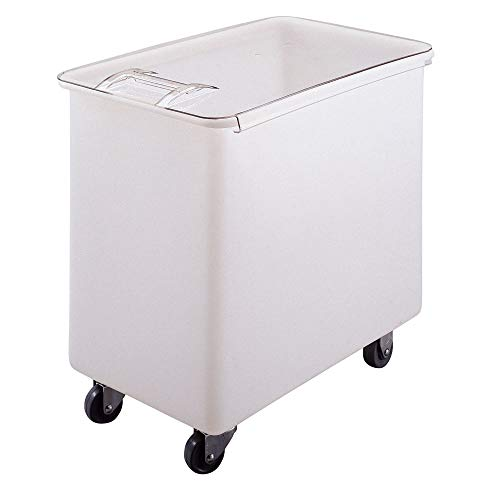 Cambro IB44 148 White Flat Top 44 Gal Ingredient Bin with Clear Lid ()