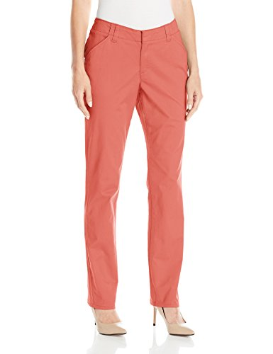 - LEE Women's Midrise Fit Essential Chino Pant, Vintage deep Rose, 12 Long