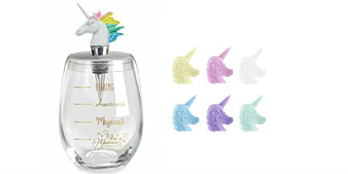 Unicorn Magic Stemless Wine Glass, Stopper & Charms Gift Set