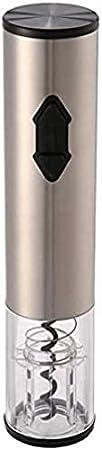 Abrebotellas de vino eléctrico con pilas, sacacorchos inalámbrico automático de acero inoxidable con cortador de papel de aluminio para el hogar amante del vino