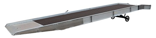 Vestil SY-259336-L Aluminum Yard Ramp with Steel Grating, 25000 lb, 432