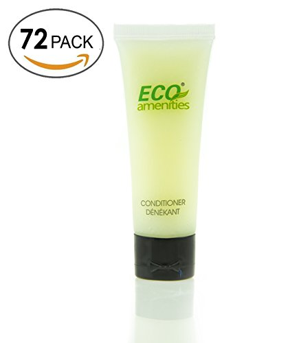 ECO AMENITIES Transparent Tube Flip Cap Individually Wrapped 30ml Conditioner, 72 Tubes per Case (Conditioner Case)