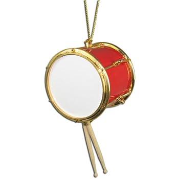 Miniature Red Tenor Drum Christmas Ornament 2