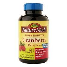 Nature Made Super Strength Cranberry Herbal Supplement 450 mg Extract Softgels 60 Soft Gels (Pack of 11) by Nature Made