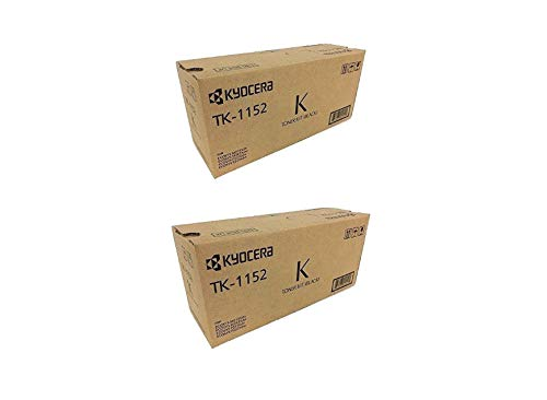 TK1152 Genuine Kyocera Toner Cartridge 2 Pack, 1T02RVOUSO, 3000 Page-Yield Per Ctg, Black