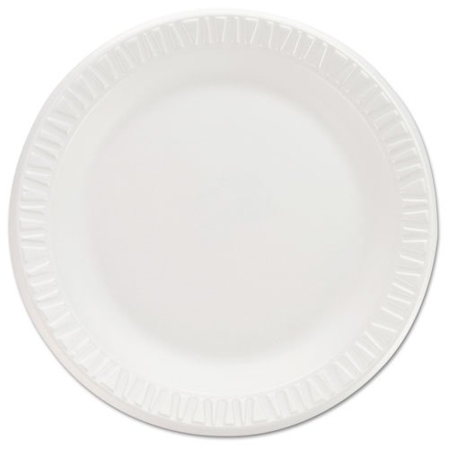 Non Foam Laminated Dinnerware (DCC 7PWCR Non-Laminated Foam Dinnerware, Plates, 7quot;Diameter, White,125/Pack,8/Carton)