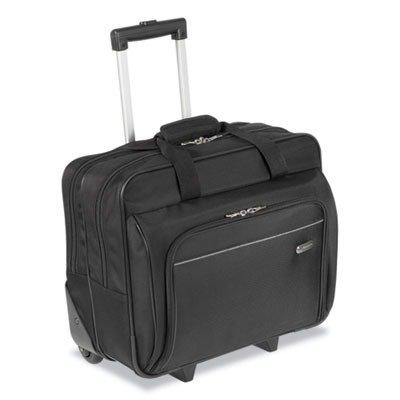 Targus TBR003US Rolling Laptop Case, 1200D Polyester, 16-1/2 x 7-1/2 x 14, Black
