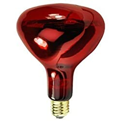 (4 Pack) 250 Watt R40 Infrared Heat Lamp Light Bulb 220-240 Volt Red Glass 5,000 Hours Supra Life R40 Heat Lamp 220-240 Volts