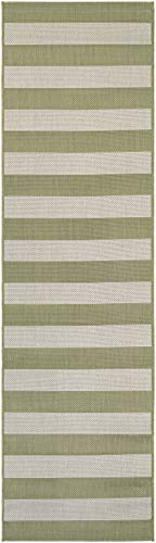 - Couristan Afuera Yacht Club Runner Rug, 2-Feet 2-Inch by 11-Feet 9-Inch, Honey/Ivory