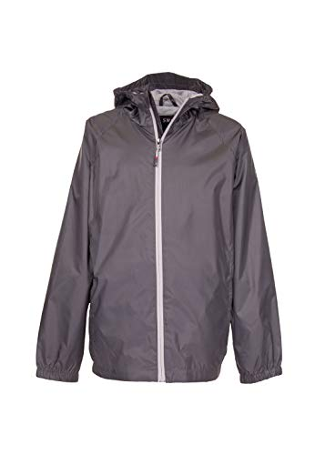 (Swiss Alps Toddler/Young Boys Wind Resistant Lightweight Rain Jacket, Graphite Grey, 4)