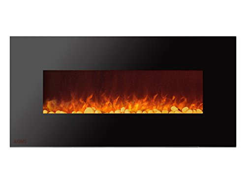 Cheap Ignis Royal 50 inch Wall Mount Electric Fireplace with Pebbles c SA us Certified (Could be recessed with no Heat) Black Friday & Cyber Monday 2019