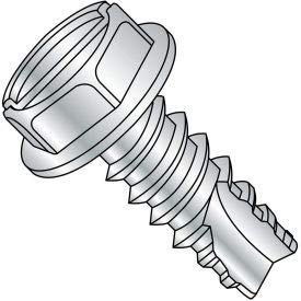 #6 x 1/2 Slotted Ind. Hex Washer Thread Cutting Screw - Full Thread - Zinc - Pkg of 10000 (06085SW)