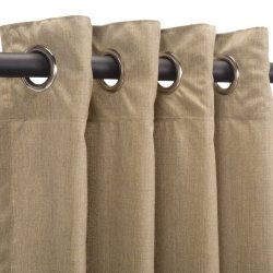 Sunbrella Outdoor Curtain with Nickel Grommets - Cast Tinsel (50 in. W x 120 in. L)