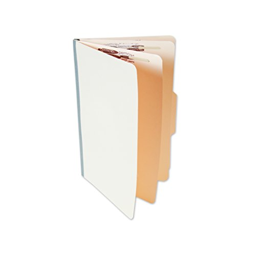 Manila Legal Size File Folder with 6 Permclip Fasteners and 2 Dividers, Top Tab (25/Box)