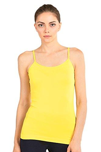 yellow spaghetti strap tank top - 1