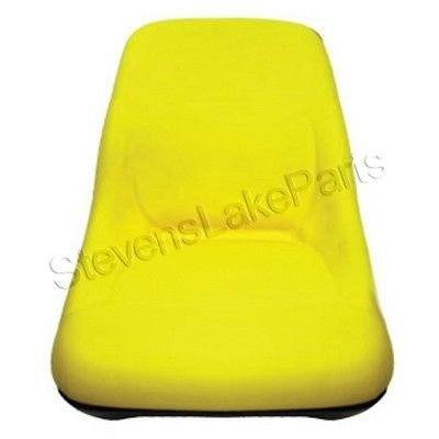 AM126865 New John Deere Riding Mower High Back Yellow Seat LT133 LTR155 SST16 +