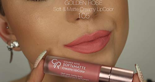 Amazoncom Golden Rose Soft And Creamy Matte Liquid Lipstick 105