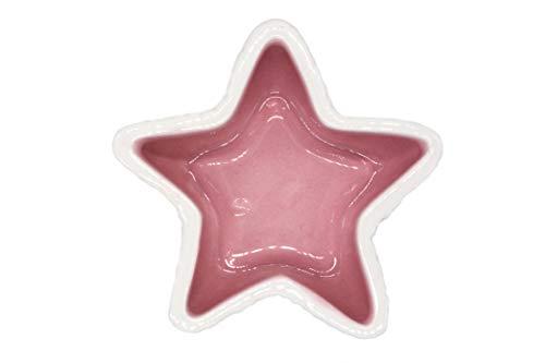 (YouMe Go Starfish Design Ceramic Food Bowl for Hamster Gerbil Small Animal (Pink))