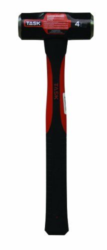 Task Tools T72315 4-Pound Sledge Hammer with  Fiberglass Handle by Task Tools