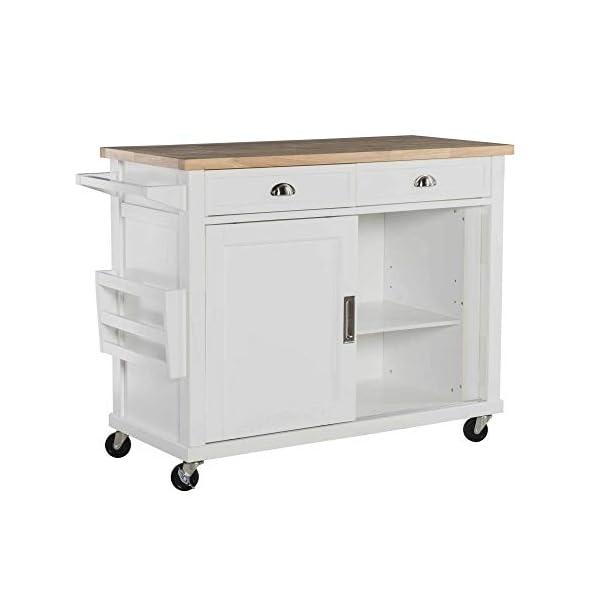 Linon Kitchen Cart, White