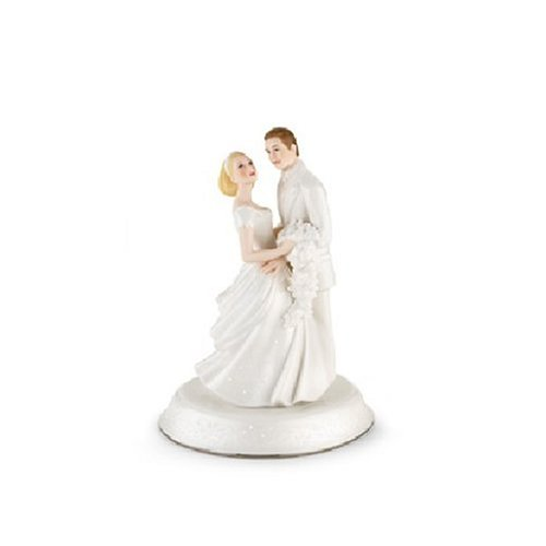 Lenox Opal Innocence Porcelain Bride and Groom Cake Topper