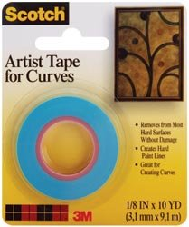 3M Bulk Buy Scotch Artist Tape for Curves 1/8 inch x 10 Yards FA2038 (3-Pack)