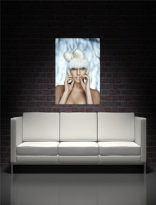 Lady Gaga Poster on Canvas Giant Wall Art