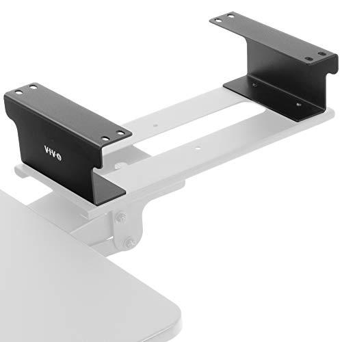 VIVO Steel Dual Spacer Brackets for Under Desk Keyboard & Mouse Slider Tray | Height Track Spacer Mount Fitting Desk Frames up to 3.2