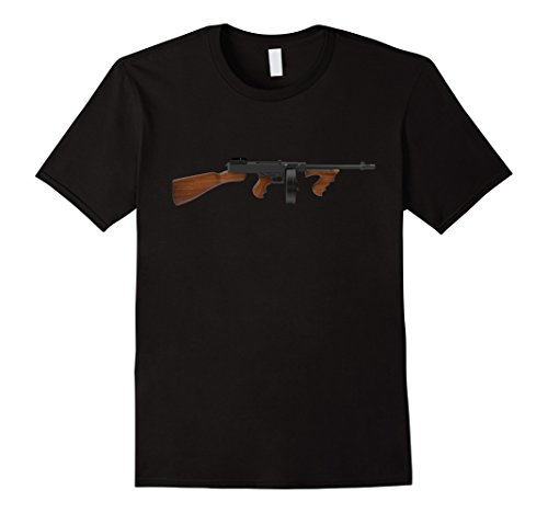 Men's Classic Tommy Gun T-Shirt Large Black