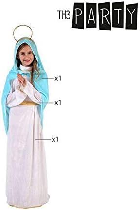 Atosa-32539 Disfraz Virgen Niña Infantil, Color Blanco, 5 a 6 años ...