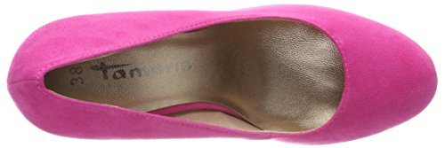 Tamaris Women's 22407 Closed Toe Ballet Flats, BAU (Navy Glam 864) Pink (Fuxia 651)
