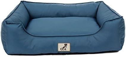 AllPetSolutions Dexter Beds Soft Waterproof Washable Hardwearing Basket Dog Bed (M, Blue)
