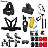 DROGRACE Action Camera Accessories Bundle Kit Compatible for GoPro HERO 6,5 Black/Session, AKASO, DBPOWER, YI, Campark,...