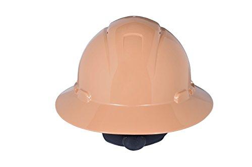 3M Full Brim Hard Hat H-811R, Tan 4-Point Ratchet Suspension