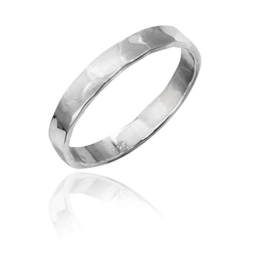 - Honolulu Jewelry Company Sterling Silver Hammered Band Ring (9)