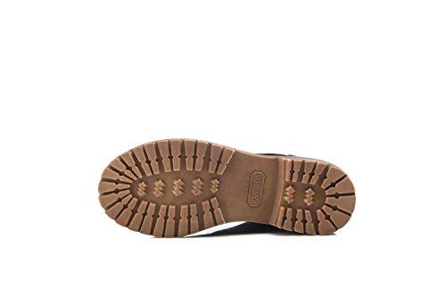 antiscivolo il donne Retro alla piatto delle britannico scarpe Stivali grattacielo di in stile stivali suede con cuoio entro 35 caviglia Martin U1wvUCxnq