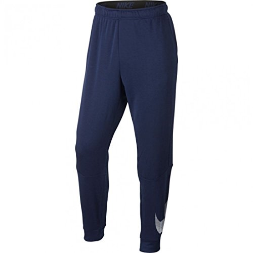 Nike Men's Dry Taper Fleece Pants (LARGE, Midnight Blue/White) - Pants Mulberry Line