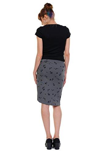 Berl rodilla hecha en Falda Mujer la a casual 3elfen Verano Ropa xIq1v6