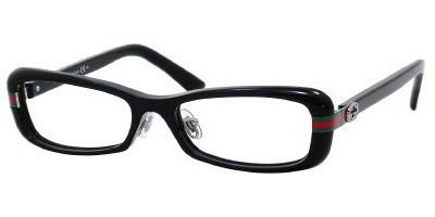 Gucci GG3529/U/F Eyeglasses-0807 Black-53mm by Gucci