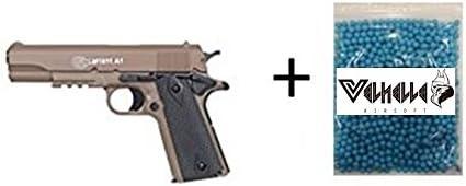CyberGun Lote/Pack Colt 1911 180126 Tan 0,7 Julios MAS 1000 Bolas 0.12GR PVC 6mm Valhalla