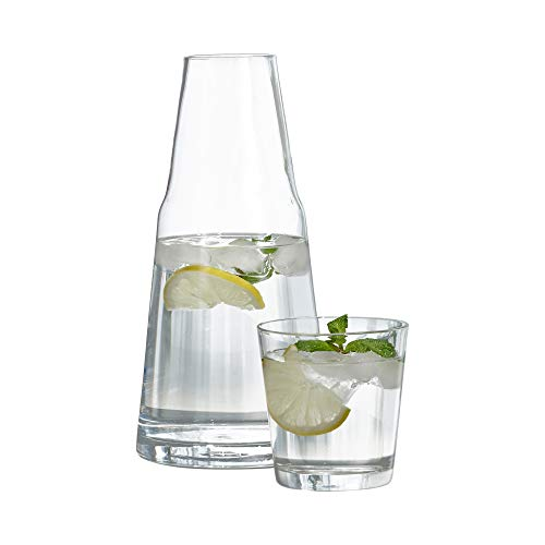 Bedside Carafe - Style Setter Soho 2 Piece Water Set, Clear