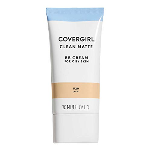 COVERGIRL Clean Matte BB Cream Light 520 For Oily Skin, (packaging may vary) – 1 Fl Oz (1 Count)