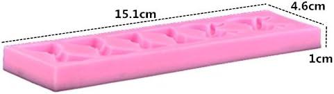 Monbedos 3D-Schleife DIY Form Silikonform Kuchen Dekor Backform Lcing Backen Werkzeuge Gr/ö/ße 15,1 x 4,6 x 1 cm