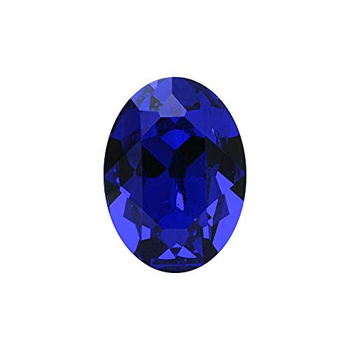 (Swarovski Crystal, 4120 Oval Fancy Stones 18x13mm, 1 Piece, Majestic Blue F)