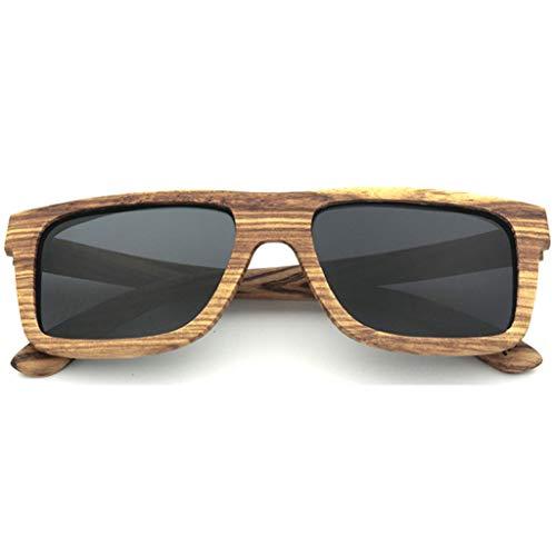 Ultravioleta bambú Mano Amarillo Gray Madera Gafas de Polarizadas La Vidrios de Protección de del Moda Hombres de de sol Hecha Deportes Los Gafas Los de Marco Color a Los f7xZfpq4