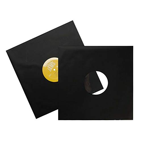 ClearBags 12 x 12 + ⅛ Matte Black Record Sleeves | Protective Outer Sleeves for Single 12 Inch Vinyl Record Albums | Poly Vinyl Sleeve Storage Protects from Wear, Scratch, -
